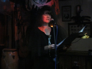 Maria reads The Man in Black at Horrorshow