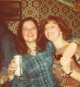Maria and sister Eileen at Maria's 18th birthday party