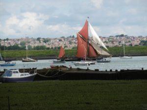 Thames barges on the Medway
